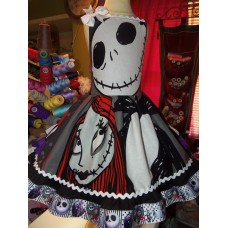 Patchwork Sally and Jack The Nightmare Before Christmas Baby Doll  Dress  Size 5t/6  Ready to ship