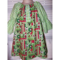 Patchwork Vintage Fabric Peanuts Christmas Greetings   Dress Size 2t,3t or 4t Ready to ship