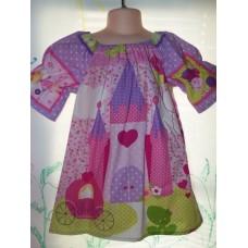 Princess  Castle  Heart Valentine Girl   Dress Size 3t  21in length