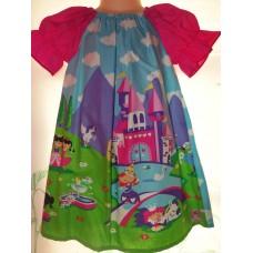 Princess  Castle  Heart Valentine Unicorn Pony Girl   Dress Size 3t  21in length