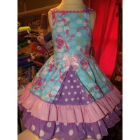 Super Cute Abby Cadabby Sesame Street  dress   Purple polka dot girls dress Size 3t