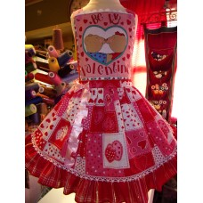 Valentine Doll  Love Pink Heard   Dress Size 3t  Ready to ship(see measurements)