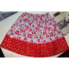 Valentine Hearts and cupcakes  Skirt Size 18mo to 4t Size  ready to ship.