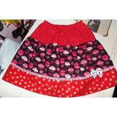 Valentine Hearts and cupcakes  Skirt Size 18mo to 7 Size  ready to ship.