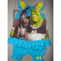 Vintage 2pc Bloomer Set  diaper cover   Set Shrek Ogre  Donkey   cake smash birthday   Size 3t/4t