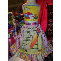 Vintage Back to School  Patchwork  Fun  Dress  Size 4t  24in length Ready to Ship