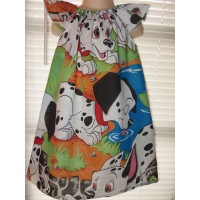 Vintage New Fabric Dalmatian Puppies  Dress Size 4t/5t  22in length