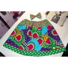 Watermelon skirt  and Bow  skirt Size 18mo to 5t   ready to ship.