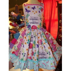 """What Happens at Grandma's House Stays at Grandma's House"""", Gift from Grandma Girls toddler Dress Size 3t Ready to Ship (Any custom orders)"""
