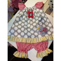 Dumbo Vintage 2pc Bloomer Set  diaper cover   Set   Fun cake smash birthday   Size 4t