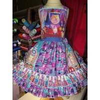 It's a Small World  Birthday, Tea Party Fairy tale Dress  Size 3t  Cotton Polyester Fabric   Ready to ship