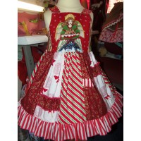 Patchwork Christmas Angel  Dress Size 3t