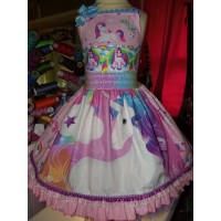 Patchwork  Unless you can be a Unicorn Rainbow Unicorn     Dress Size  4t Ready to ship