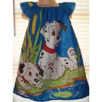 Patchwork Vintage Panel New Fabric 101 Dalmatians Puppy   Girls  Dress Size  3t  Ready to ship