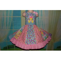 Patchwork   Easter Bunny Eggs     Dress Size  3t Ready to ship