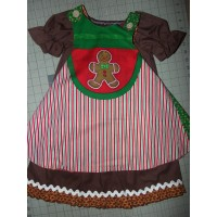4pc set mix and match  Vintage fabric Thanksgiving Day Turkey  and Christmas Ginger  Cookies   Size 3t/4t   Reversible